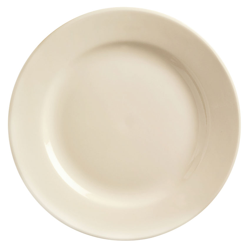 World Tableware PWC-50 Cream White Rolled Edge Plate, Princess Ultima, Round