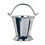 "World Tableware PWH-13 3.625"" Round Pail w/ 13-oz Capacity, Sonoran, Stainless"