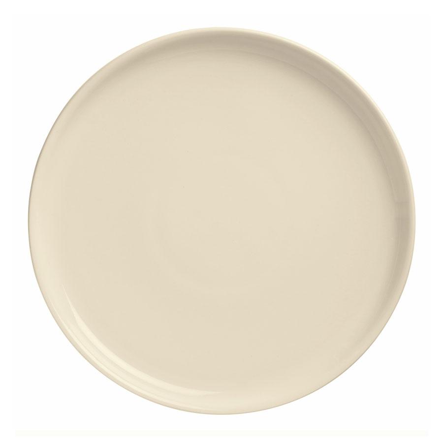 """World Tableware PZ-11 11.37"""" Round Pizza Platter w/ Deep Rim, Cream White"""