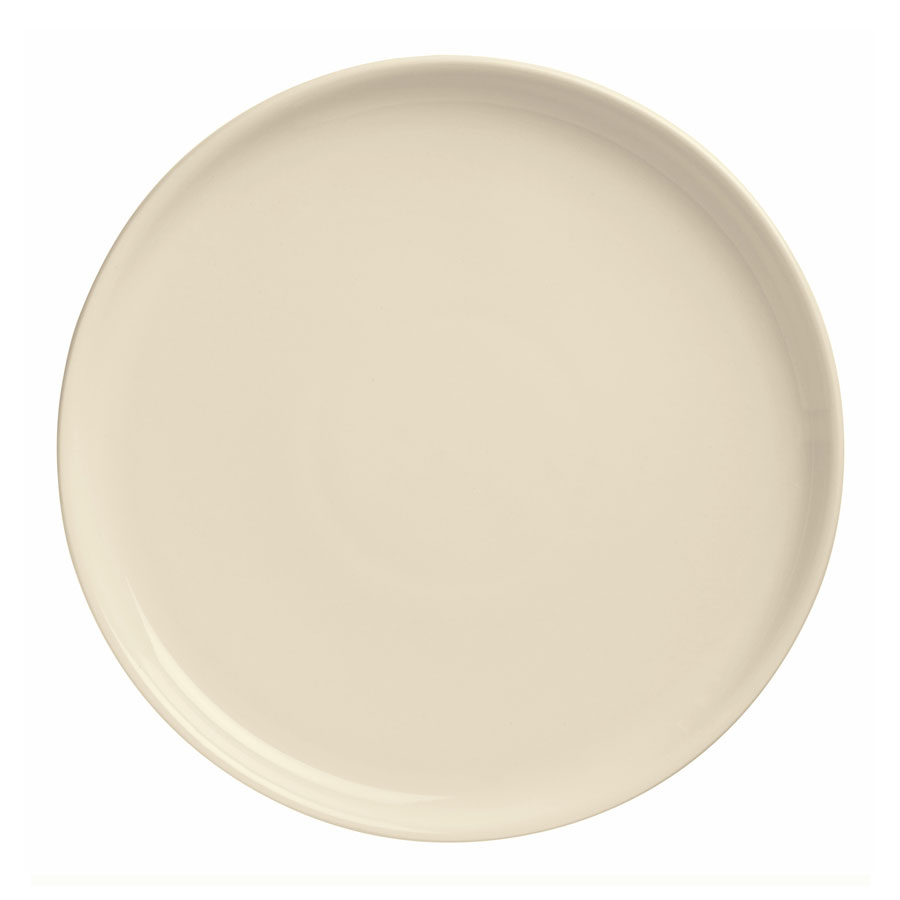 "World Tableware PZ-13 13.37"" Round Pizza Platter w/ Deep Rim, Cream White"
