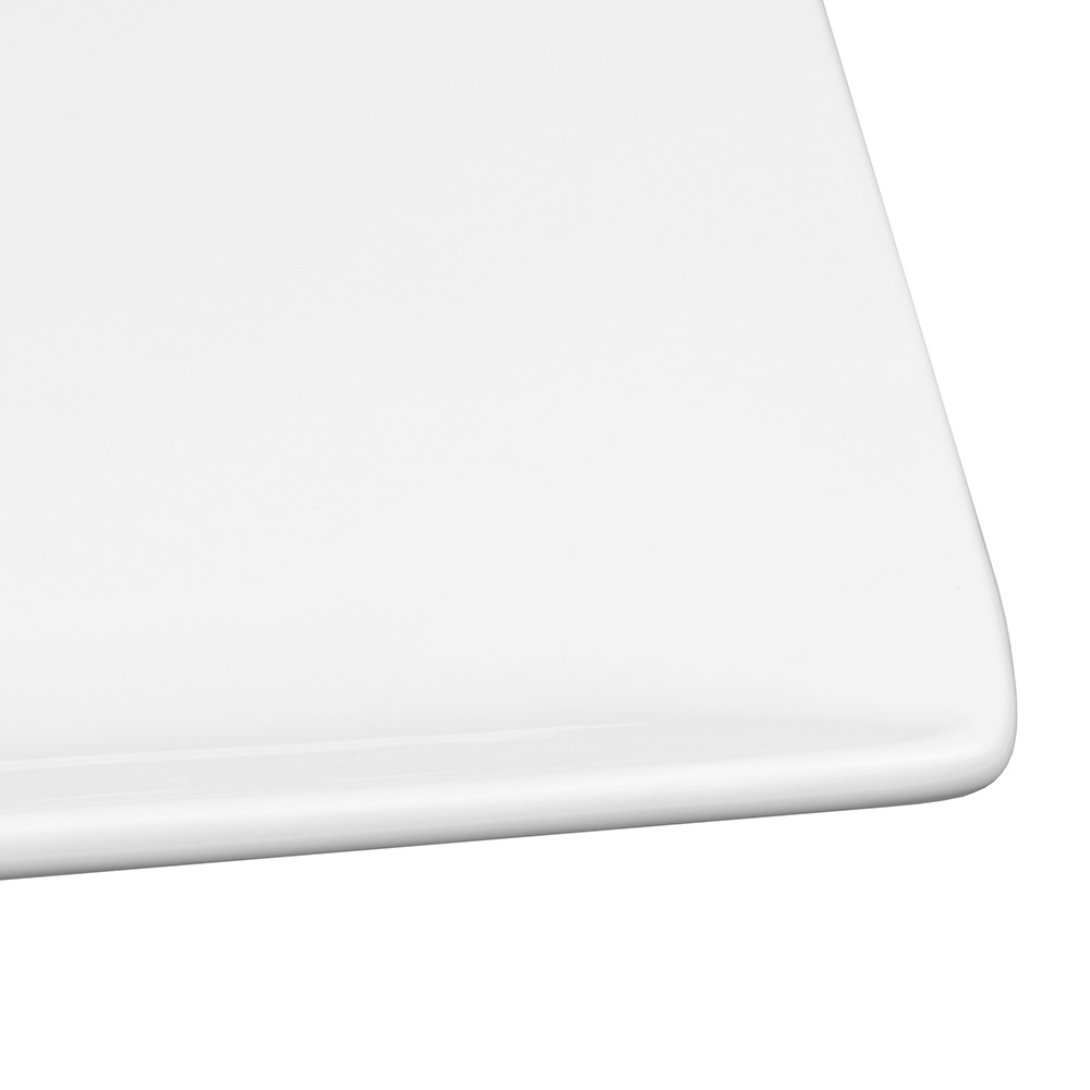 "World Tableware SL-10C 10-7/8"" Slate Square Coupe Plate -  Ultra Bright White, Porcelana"
