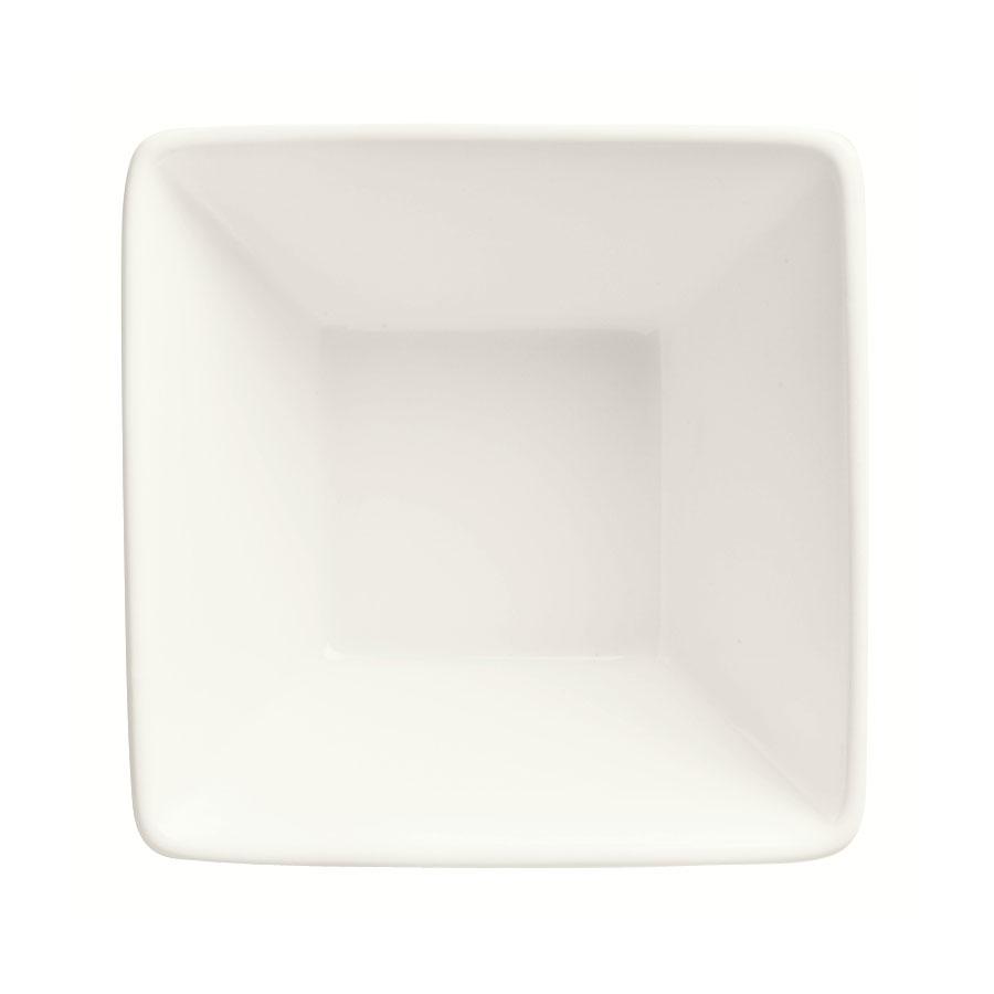 "World Tableware SL-111 4.5"" Square Porcelain Bowl w/ 11-oz Capacity, Ultra Bright White, Slate"
