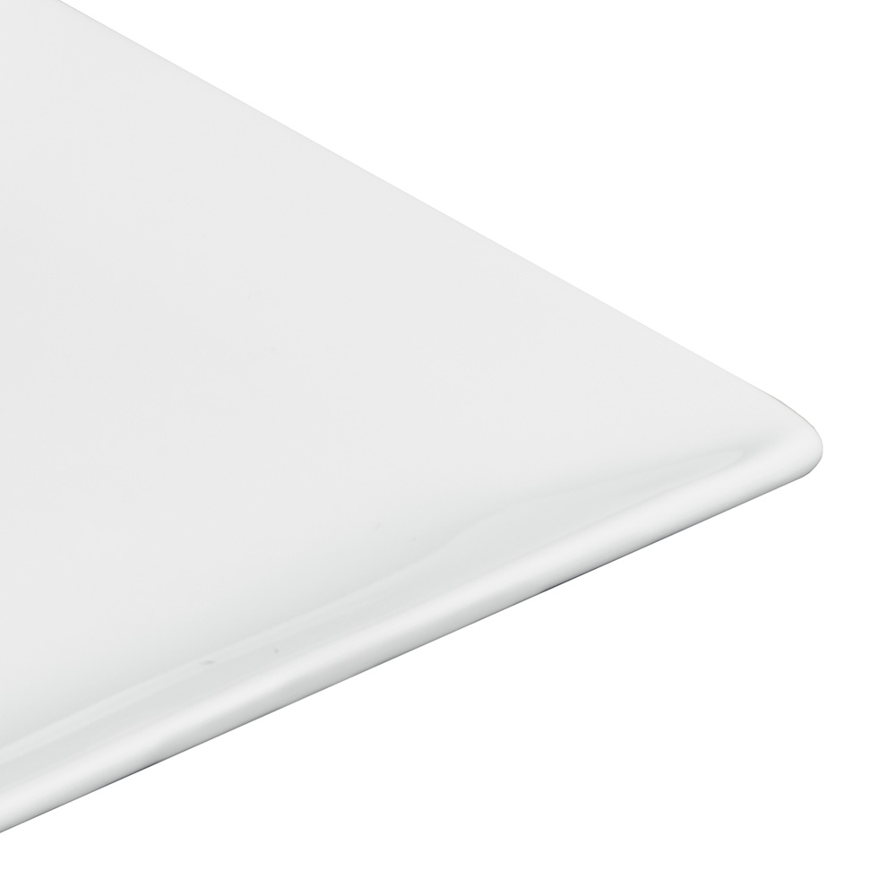 "World Tableware SL-114C 4"" Slate Square Coupe Plate -  Ultra Bright White, Porcelana"