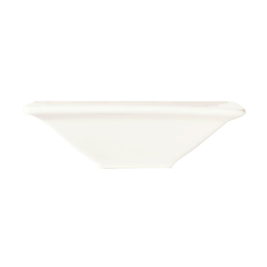 "World Tableware SL-11 5"" Square Porcelain Fruit Bowl w/ 5.5-oz Capacity, Porcelana, Slate"