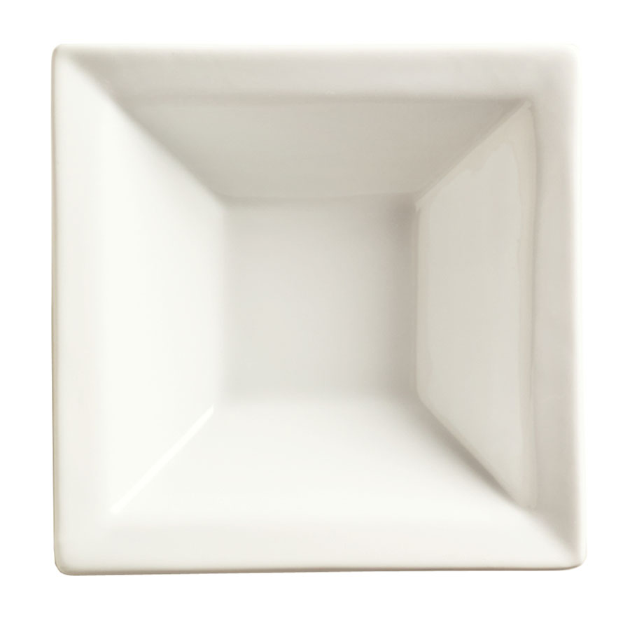 "World Tableware SL-12 7"" Square Porcelain Grapefruit Bowl w/ 12-oz Capacity, Porcelana, Slate"