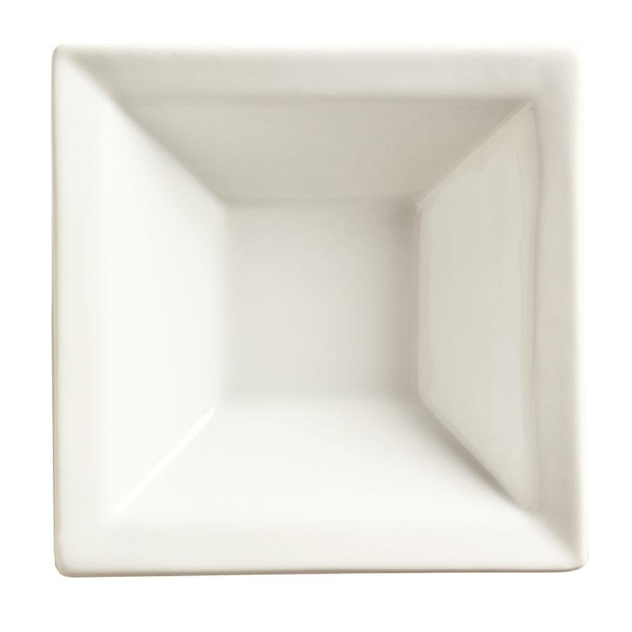 "World Tableware SL-13 9"" Square Porcelain Soup Bowl w/ 16-oz Capacity, Porcelana, Slate"