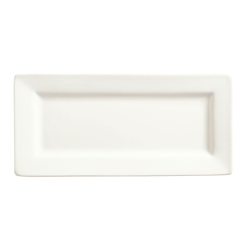 "World Tableware SL-21 Rectangular Porcelain Plate, 11x5"", Porcelana, Slate"