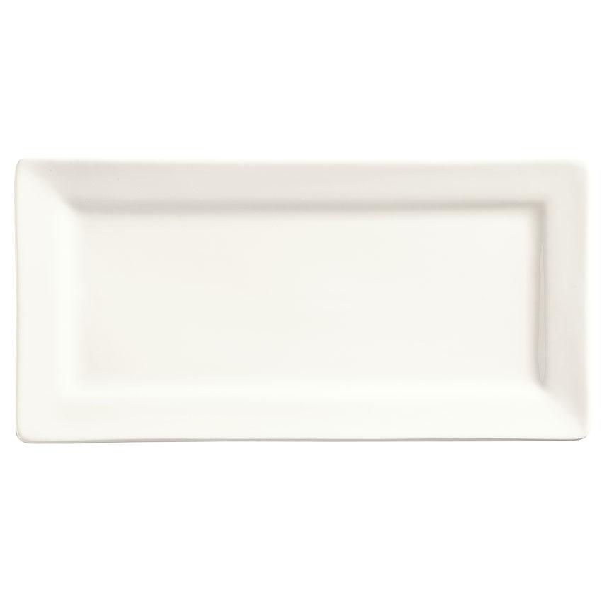 "World Tableware SL-23 Rectangular Porcelain Plate, 12x6.5"", Porcelana, Slate"