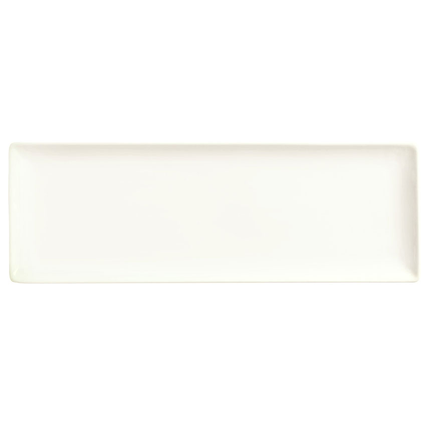 "World Tableware SL-23C Rectangular Slate Coupe Porcelain Tray - 12-1/4x6"" Ultra Bright White"