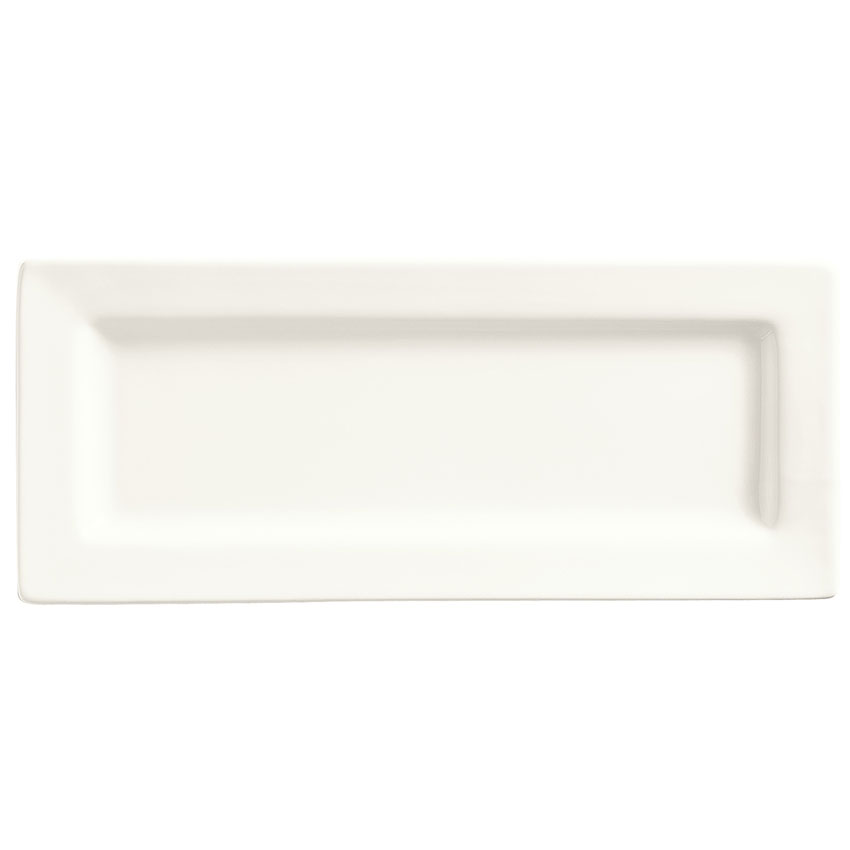 "World Tableware SL-24 Rectangular Porcelain Plate, 10.5x4.37"", Bright White, Porcelana, Slate"