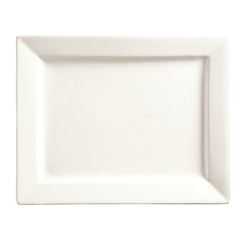 """World Tableware SL-25 Rectangular Porcelain Platter, 14x11"""", Porcelana, Slate"""