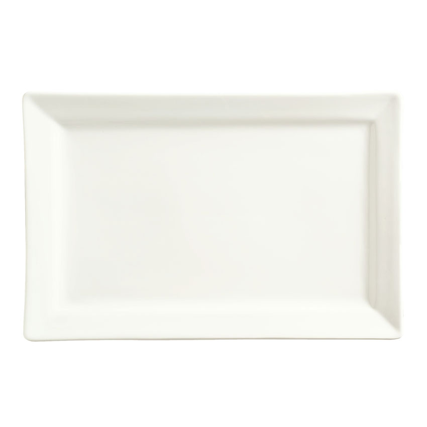 "World Tableware SL-26 Rectangular Porcelain Plate, 12x8"", Porcelana, Slate"