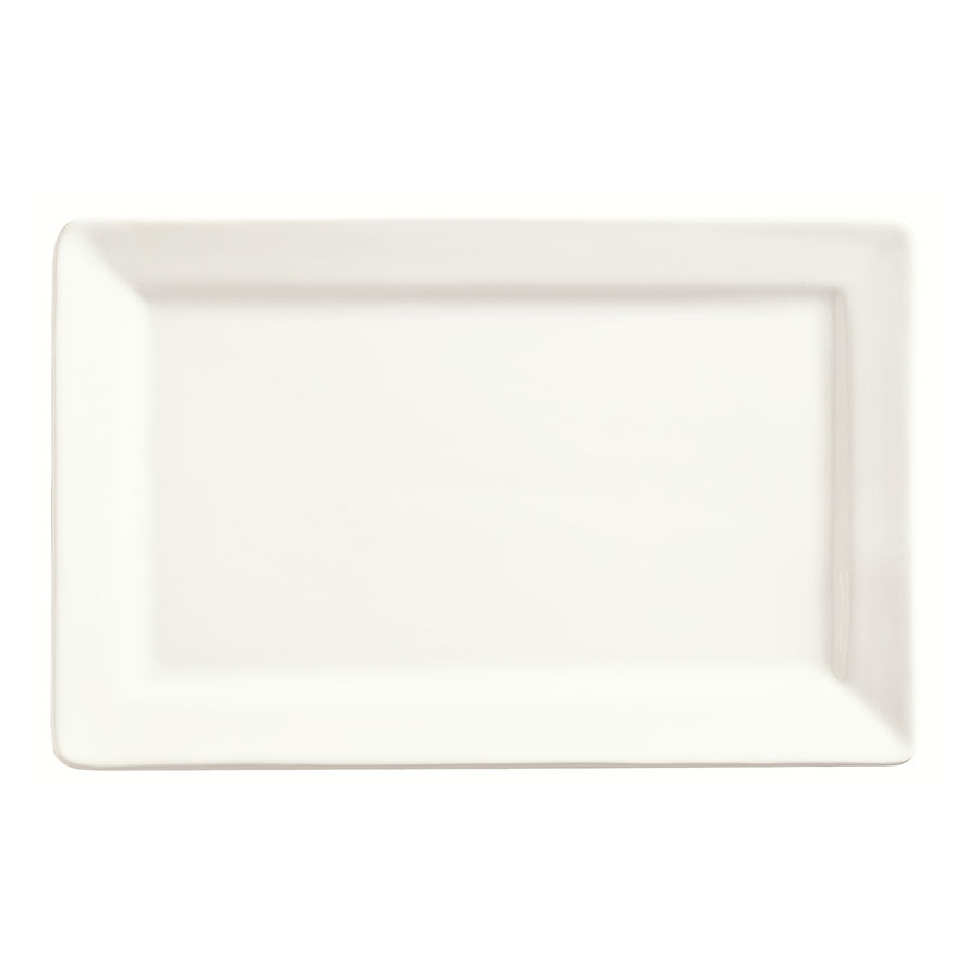 "World Tableware SL-27 Rectangular Porcelain Plate, 11x7"", Porcelana, Slate"