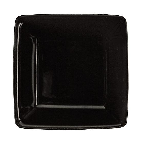 World Tableware SL-3-B 2.75-oz Porcelain Square Dipping Bowl, Black, Slate