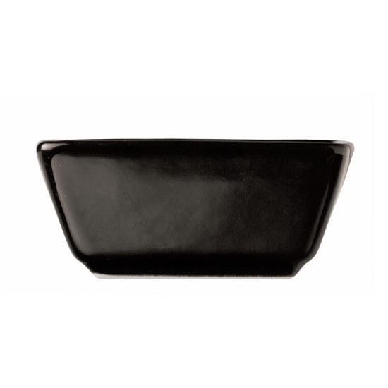 World Tableware SL-3-B 2.75-oz Porcelain Square Dipping Bowl, Black, Slate