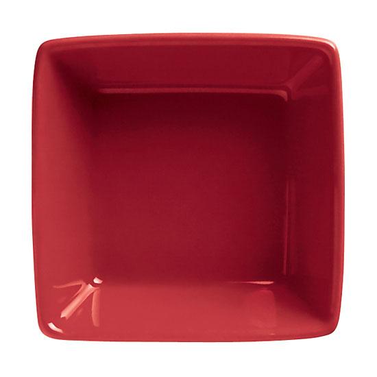 World Tableware SL-3-R 2.75-oz Porcelain Square Dipping Bowl, Red, Slate