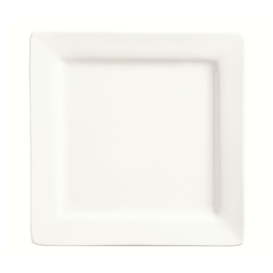 "World Tableware SL-40 12"" Plate - Square, Porcelain, Slate"