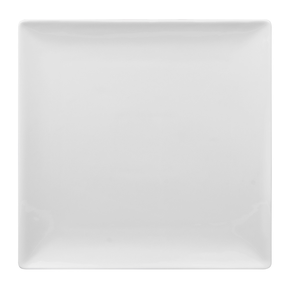 "World Tableware SL-40C 12"" Slate Square Coupe Plate -  Ultra Bright White, Porcelana"