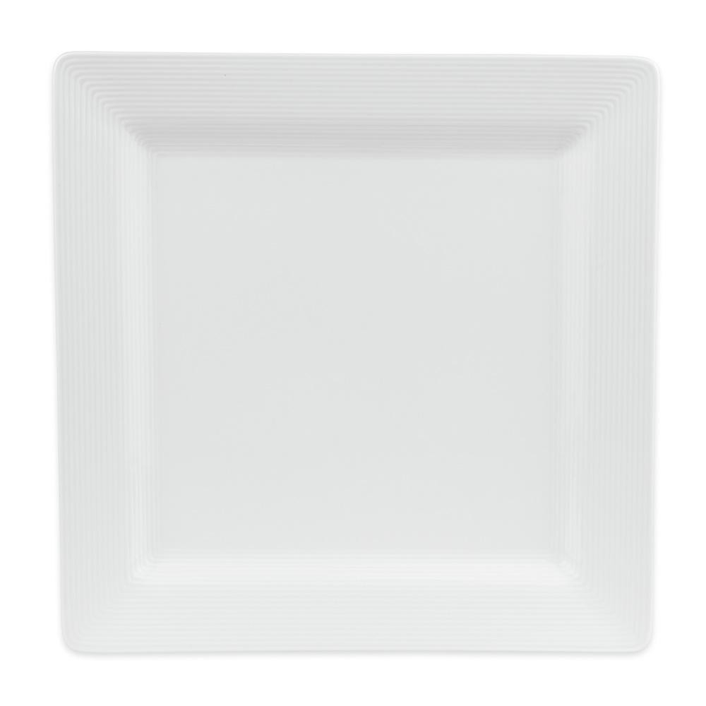 "World Tableware SL-40S 12"" Porcelana Square Plate - Porcelain, Ultra Bright White"