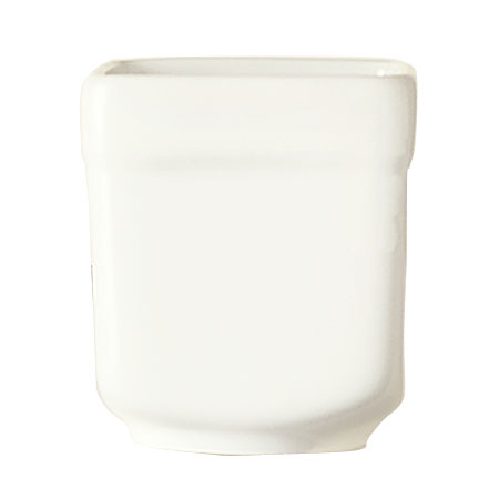 "World Tableware SL-52 2.5-oz Sampler Cube - 2x2.25"", Square, Porcelain, Ultra Bright White, Slate"