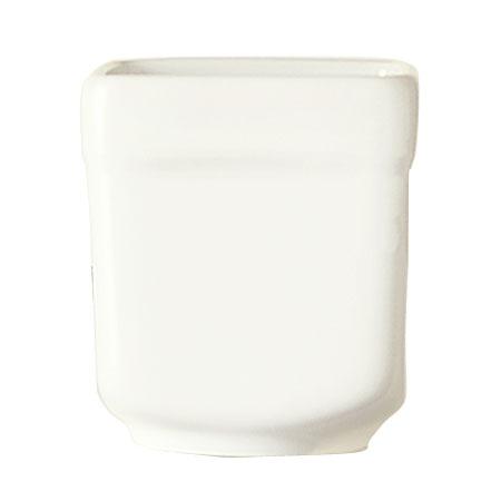 """World Tableware SL-52 2.5-oz Sampler Cube - 2x2.25"""", Square, Porcelain, Ultra Bright White, Slate"""