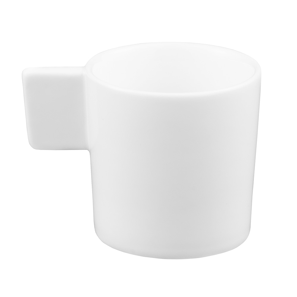 World Tableware SL-60 3-oz Espresso Cup w/ Closed Handle, Porcelain, White