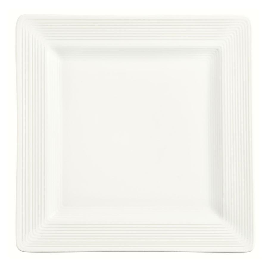 "World Tableware SL-6S 6-1/4"" Porcelana Square Plate - Porcelain, Ultra Bright White"