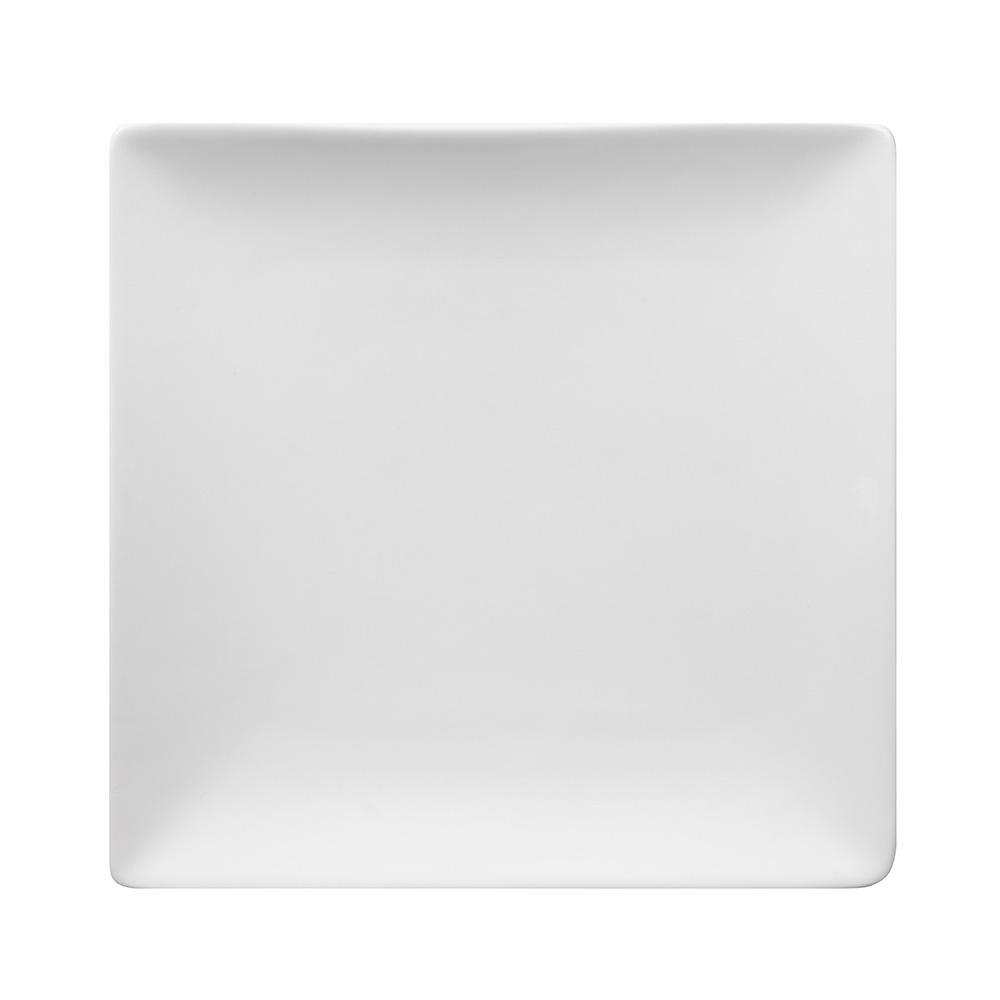 "World Tableware SL-7C 7-1/2"" Slate Square Coupe Plate -  Ultra Bright White, Porcelana"