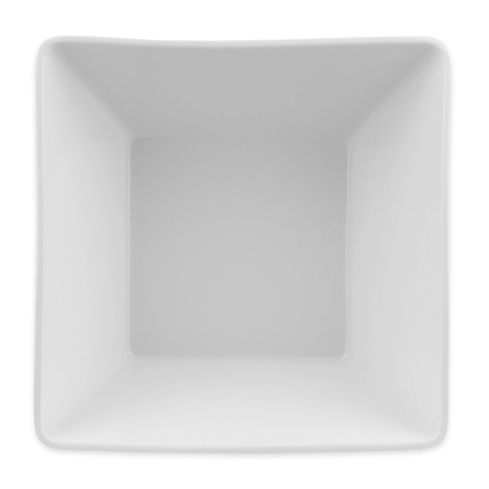 "World Tableware SL-99 9.25"" Square Bowl w/ 100-oz Capacity, Ultra Bright White"