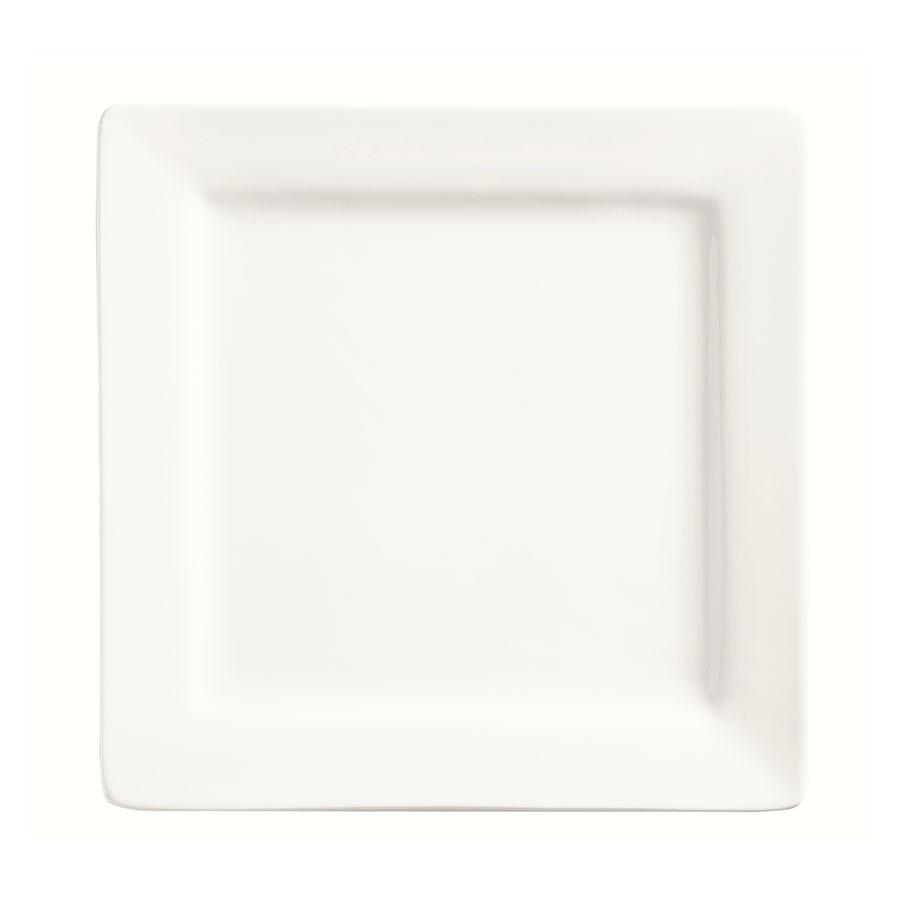 """World Tableware SL-9 9"""" Square Porcelain Plate, Porcelana, Slate"""