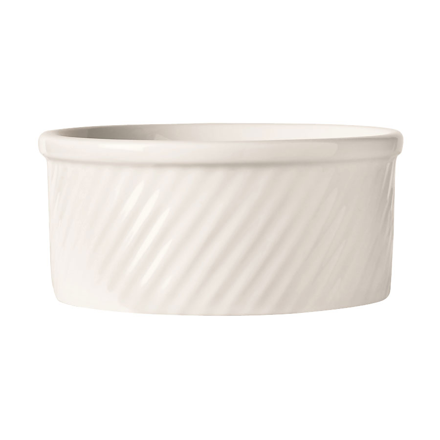 "World Tableware SOU-8 8-oz Round Souffle Dish, 4.12x2"", White, Bedrock Ovenware, Ultima"