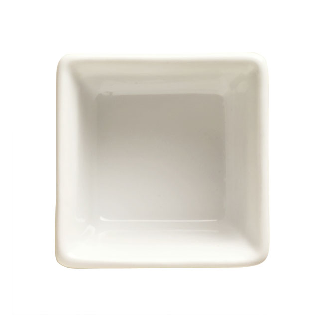World Tableware SR-011 11-oz Square Souffle Dish, Bright White, Bedrock Ovenware, Ultima