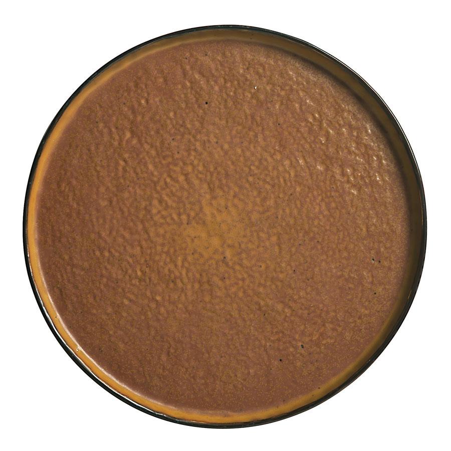 """World Tableware STB-10 10-3/4"""" Los Ranchos Round Ceramic Tray - Brown"""