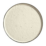 "World Tableware STW-10 10-3/4"" Los Ranchos Round Ceramic Tray - White"