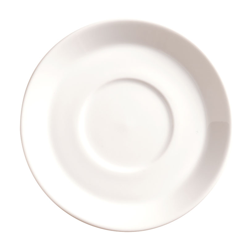 "World Tableware SYW-5 4.75"" Round Espresso Saucer - Ultra Bright White"