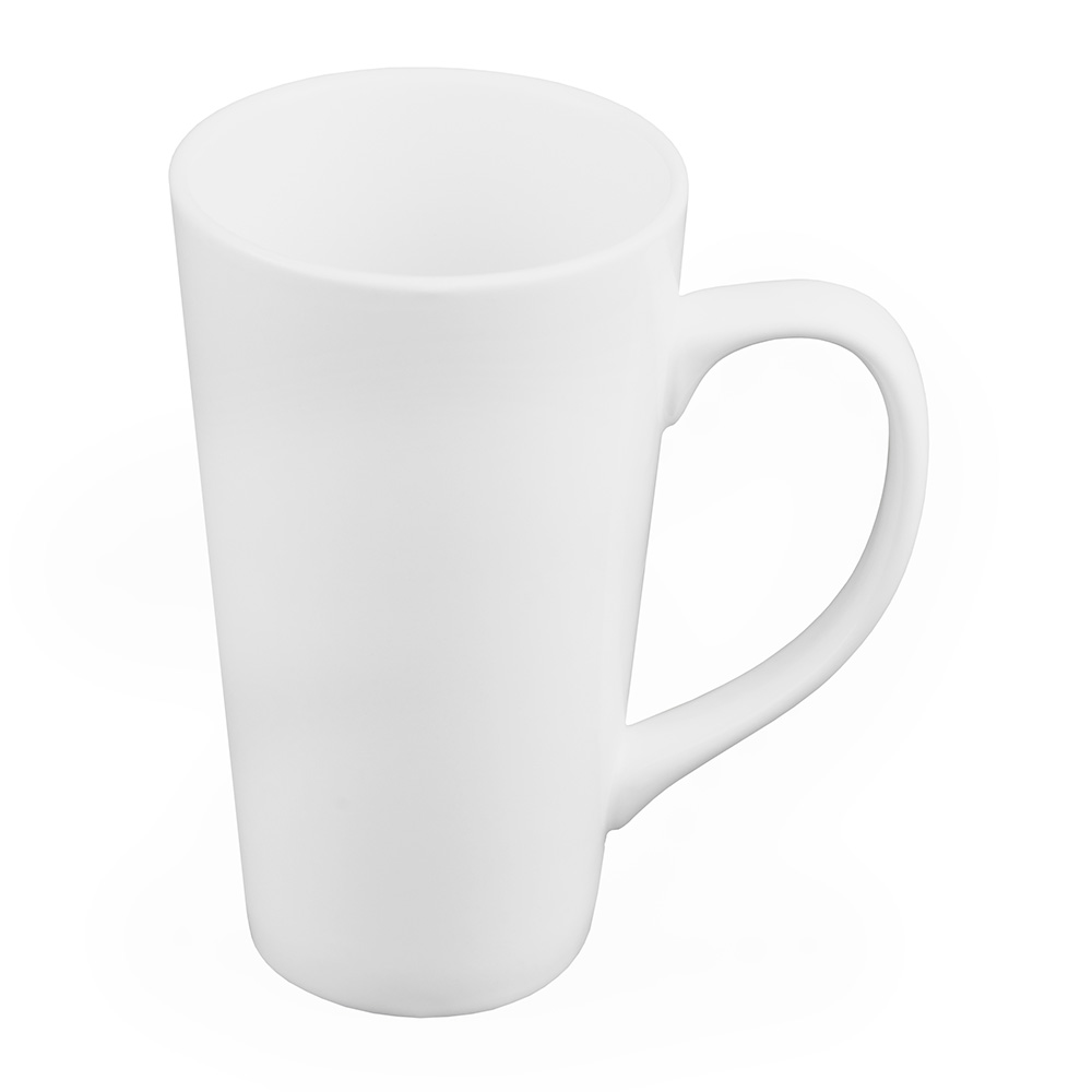 World Tableware TBM11 10-oz Tall Bistro Mug, White