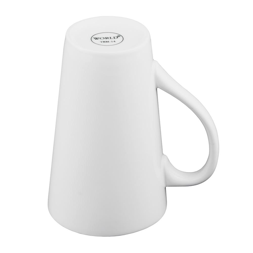World Tableware TBM14 14-oz Tall Bistro Mug, White