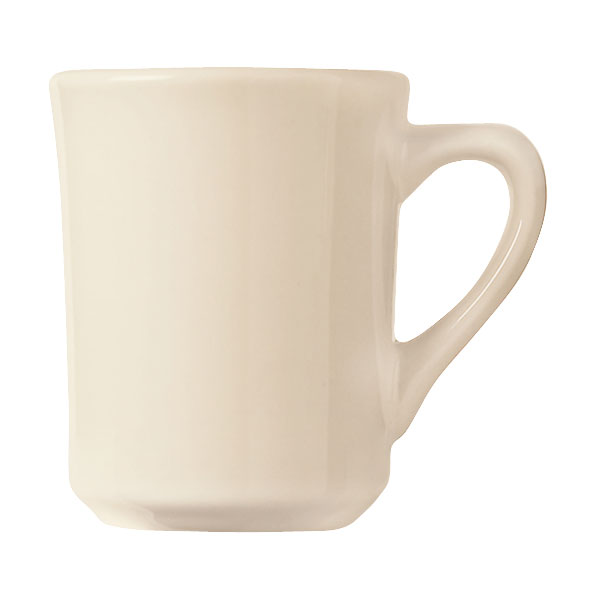 World Tableware TM-8-W 8.5-oz Mug, Cream White, Tiara, Montego Bay