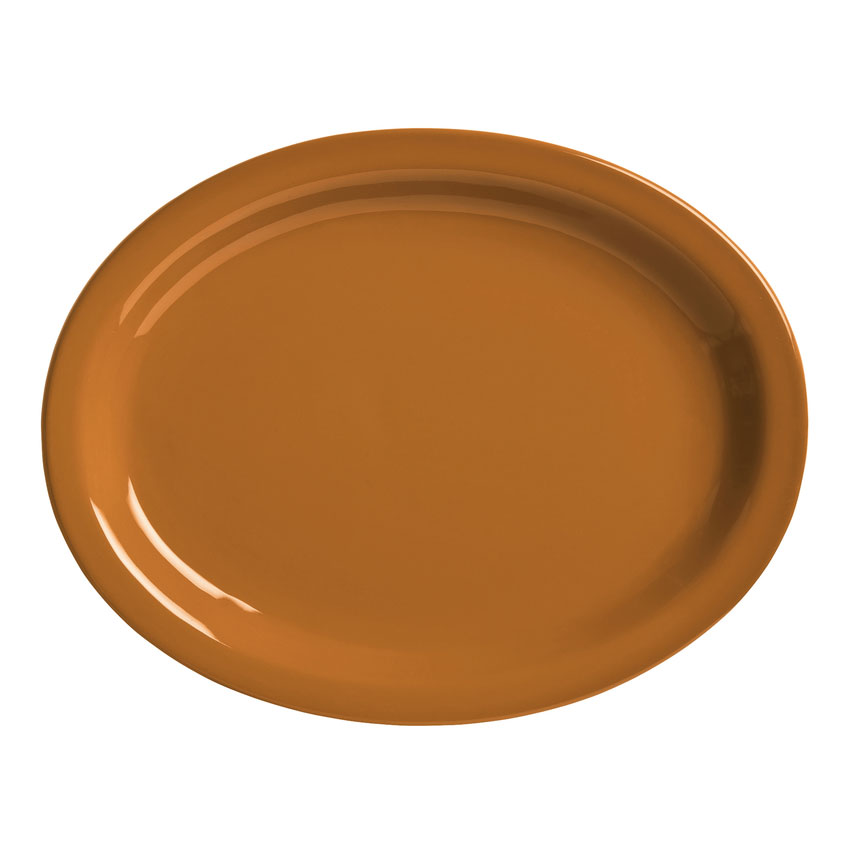 "World Tableware VCC155 15.5"" Round Ceramic Platter, Cocoa Brown, Veracruz"