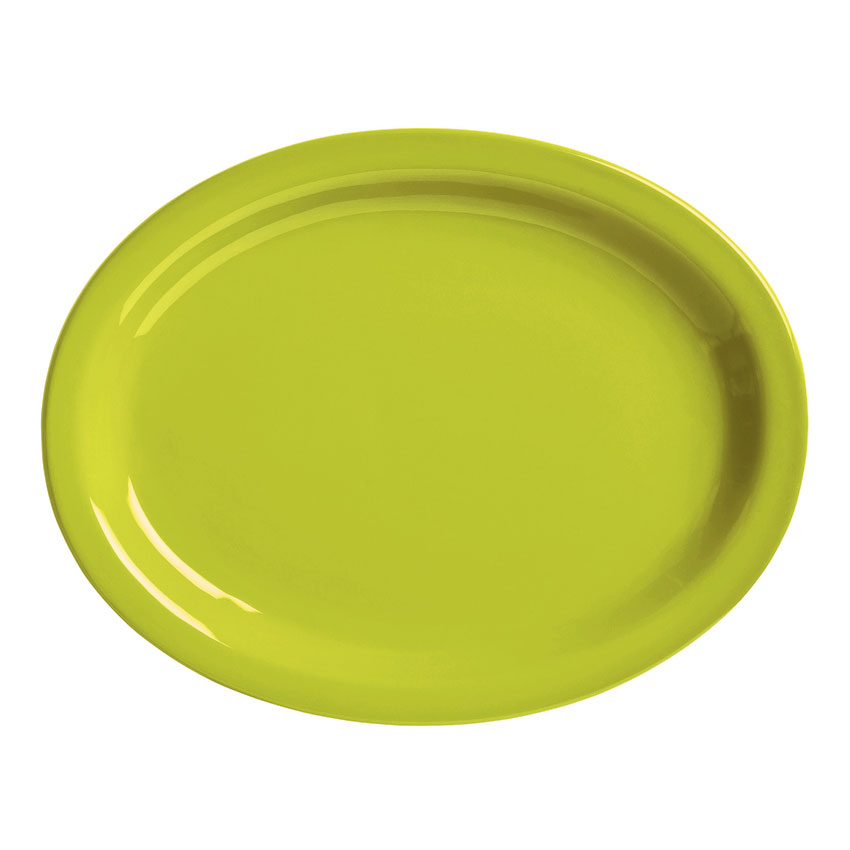 "World Tableware VCG155 15.5"" Round Ceramic Platter, Margarita Green, Veracruz"