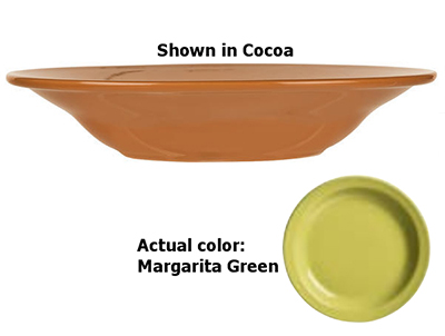 World Tableware VCG-3 12-oz Rim Soup Bowl, Veracruz - Margarita Green