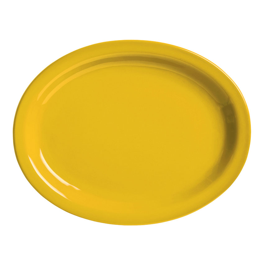 "World Tableware VCM-12 9.75"" x 7.5"" Platter, Veracruz - Marigold"