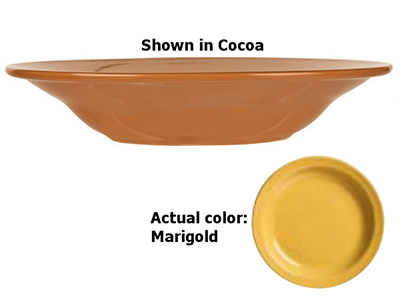 World Tableware VCM-3 12-oz Rim Soup Bowl, Veracruz - Marigold