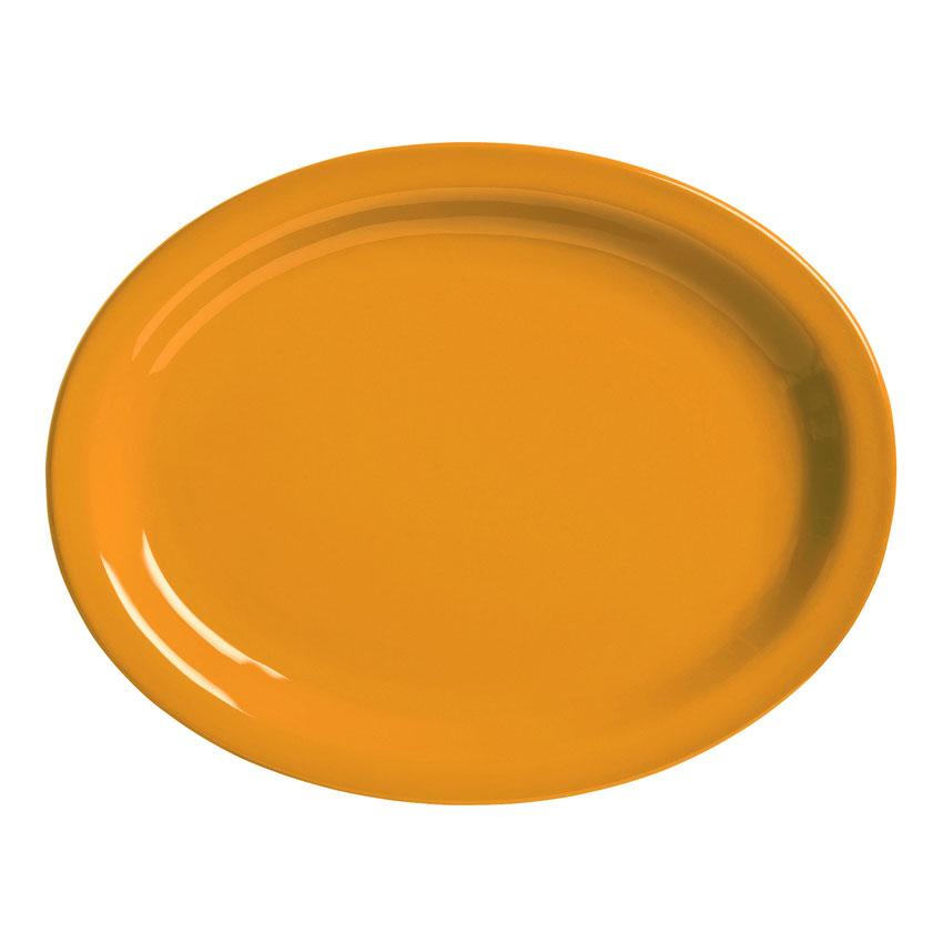 "World Tableware VCO-12 9.75"" x 7.5"" Platter, Veracruz - Cantaloupe"