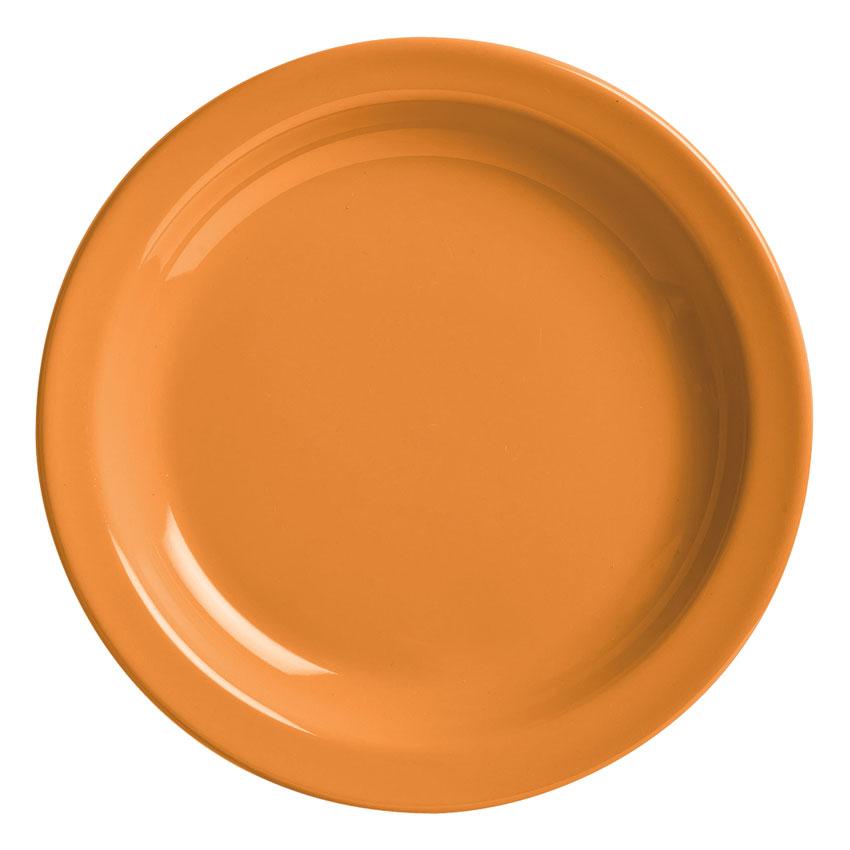 "World Tableware VCO-6 6.5"" Veracruz Plate - Ceramic, Cantaloupe Orange"