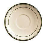 "World Tableware VIC-20 5.5"" Viceroy Saucer - Plain, (3) Green Bands"