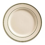 "World Tableware VIC-6 6.625"" Viceroy Plate - Plain, (3) Green Bands"