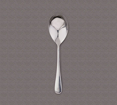 "World Tableware 004019 8-7/8"" Deluxe Windsor Serving Spoon - Silverplated"