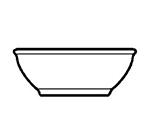 World Tableware 840-350-035 5-in Porcelain Nappie w/ 10-oz Capacity & Narrow Rim, Bright White, Porcelana
