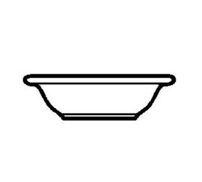"World Tableware 840-320-020 6.25"" Grapefruit Bowl w/ 10-oz Capacity & Wide Rim, Bright White, Porcelana"